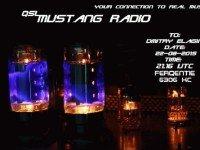 e-QSL Mustang Radio Нидерланды Август 2015 года Pirate Radio