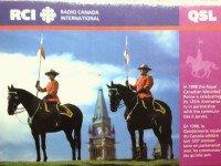 QSL RCI Канада Radio Canada International Октябрь 1998 года