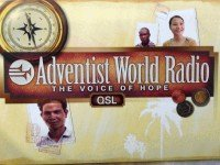 QSL Adventist World Radio Германия Сентябрь 2015 года