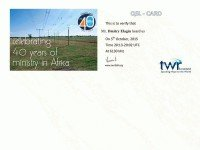 e-QSL TWR Africa Свазиленд Trans World Radio Октябрь 2015 года