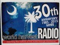 QSL WHRI США World Harvest Radio Октябрь 2015 года