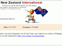 e-QSL Radio New Zealand International Новая Зеландия RNZI Октябрь 2015 года