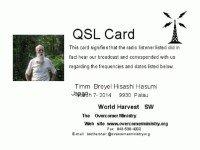 e-QSL The Overcomer Ministry США WHRI Декабрь 2015 года