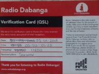 QSL Radio Dabanga Мадагаскар Судан Сентябрь 2015 года