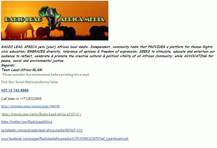QSL Radio Lead Africa 2