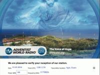 e-QSL Adventist World Radio KSDA Гуам The Voice Of Hope Март 2016 года