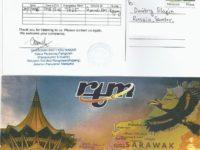 e-QSL RTM Sarawak FM Малайзия Май 2016 года