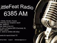 e-QSL Little Feat Radio Великобритания Май 2016 года