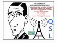 e-QSL Marconi Radio International Италия Июнь 2016 года