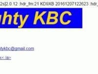 e-QSL The Mighty KBC Нидерланды / Германия 24 июля 2016 года