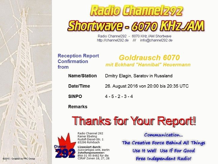 160826 QSL Dmitry Elagin Russland