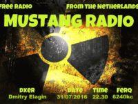 e-QSL Mustang Radio Нидерланды Июль Август 2016 года Pirate Radio