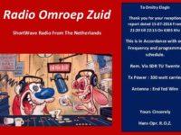 e-QSL Radio Oscar Zulu Нидерланды Июль 2016 года