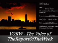 e-QSL The Voice of TheReportOfTheWeek Армения 11 августа 2016 года