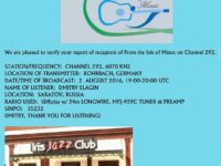e-QSL From the Isle of Music Германия Август 2016 года