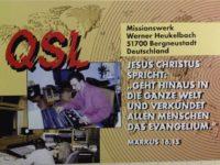 QSL Missionswerk Werner Heukelbach Германия Май 2016 года