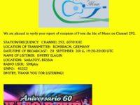 e-QSL From the Isle of Music Германия Сентябрь 2016 года