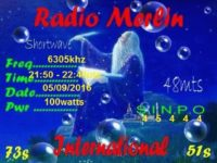 e-QSL Radio Merlin International Великобритания Сентябрь 2016 года