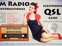 e-QSL SM Radio International Август Сентябрь Октябрь 2016 года