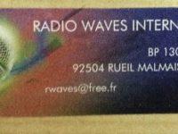 QSL Radio Waves International Франция Channel 292 Германия 18 сентября 2016 года