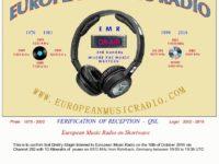 e-QSL European Music Radio Германия EMR Октябрь 2016 года