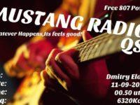 e-QSL Mustang Radio Нидерланды Сентябрь 2016 года Pirate Radio