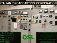 e-QSL IBC Italian Broadcasting Corporation Италия Сентябрь 2016 года