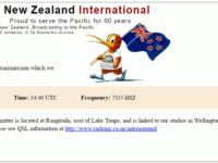 e-QSL Radio New Zealand International Новая Зеландия RNZI Ноябрь 2016 года