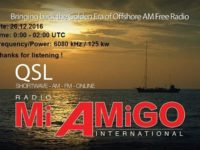 e-QSL Radio Mi Amigo International Германия Декабрь 2016 года