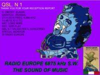 e-QSL Radio Europe Италия Ноябрь 2016 года