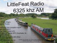 e-QSL Little Feat Radio Великобритания Январь 2017 года