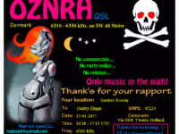 e-QSL Radio OZNRH Дания Январь 2017 года
