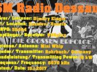 e-QSL SM Radio Dessau Январь 2017 года