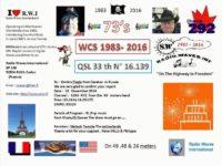 e-QSL Radio Waves International Франция Ноябрь 2016 года