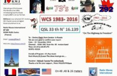 e-QSL Radio Waves International Франция Ноябрь 2016 года