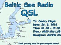 e-QSL Baltic Sea Radio Финляндия Август 2016 года