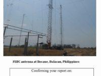 e-QSL FEBC Philippines Филиппины Радио Теос Февраль 2017 года