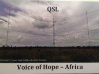 QSL Voice of Hope Africa Замбия Февраль 2017 года