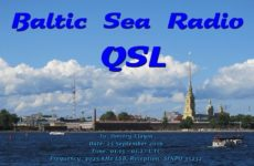 e-QSL Baltic Sea Radio Финляндия Сентябрь 2016 года