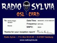 e-QSL Radio Sylvia Германия Май 2017 года
