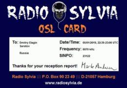 e-QSL Radio Sylvia Германия Май 2017 — Январь 2019 года