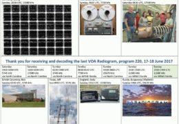 e-QSL VOA Radiogram Июнь 2017 года