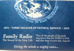 QSL WYFR Family Radio WRMI США Июль 2017 года