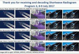 e-QSL Shortwave Radiogram Июль 2017 года