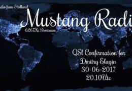 e-QSL Mustang Radio Нидерланды Июнь 2017 года