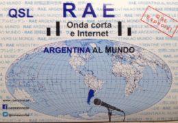 QSL RAE Argentina al Mundo Аргентина США Май 2017 года
