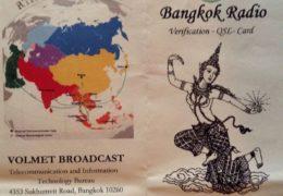 QSL Bangkok Radio Volmet Таиланд Январь 2018 года