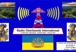 e-QSL Radio Oberlausitz International Германия Апрель 2018 года