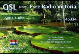 e-QSL Free Radio Victoria Нидерланды Май 2018 года