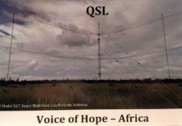 QSL Voice of Hope Africa Замбия Апрель 2017 — Август 2020 года